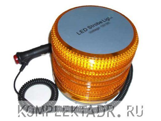 Маяк проблесковый светодиодный оранжевый, 12V